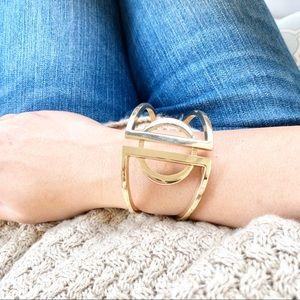 Gold Geometric Bracelet Cuff